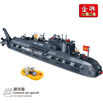 Model building kit compatible with lego military submarine U-boat 3D blocks Educational model building toys hobbies for children aircraft carrier ship military army model building blocks compatible with legoelie playmobil educational toys for children b0388