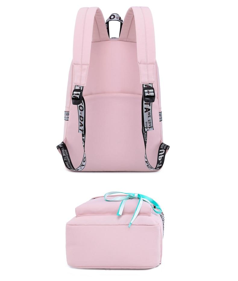 WINNER 2019 New Waterproof Women Backpack USB Charging Printing School Laptop Knapsack Female Travel Daily Mochila Bolsas Kawai