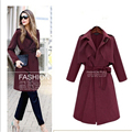 Solid color women's jacket and coat new 2017 Fashion women long slim spring coat women windbreaker  casaco feminino L453