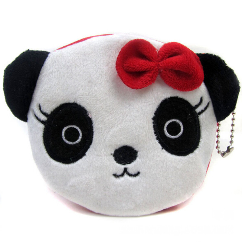 Useful Women  Cartoon Panda Coin Purse Money Bag Mini Handbag Key Bag Female Zipper Small Wallet Cute Purses For Girls(China)