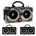 20 Вт Деревянный Высокой Мощности Открытый Bluetooth Динамик Беспроводные Стерео Super Bass Сабвуфер Танцы Громкоговоритель с fm-радио звук автомобиля