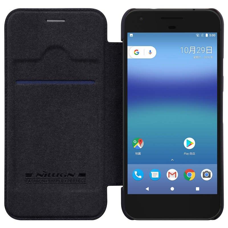 meet de91f 5622e For Pixel / Pixel Xl Case Nillkin Genuine Wallet Leather Funda Cover For  Google Pixel 5.0