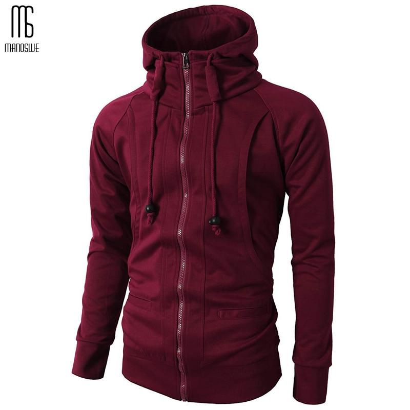 Manoswe Men's Full Zip Hooded Sweatshirts Men Fashionable Fleece Jacket Jersey Fit Hoodie Long Sleeve Hooded Coat Casual Wear