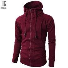 Manoswe Men's Full Zip Hooded Sweatshirts men Fashionable Fleece Jacket Jersey Fit Hoodie Long Sleeve Hooded Coat Casual Wear цена 2017