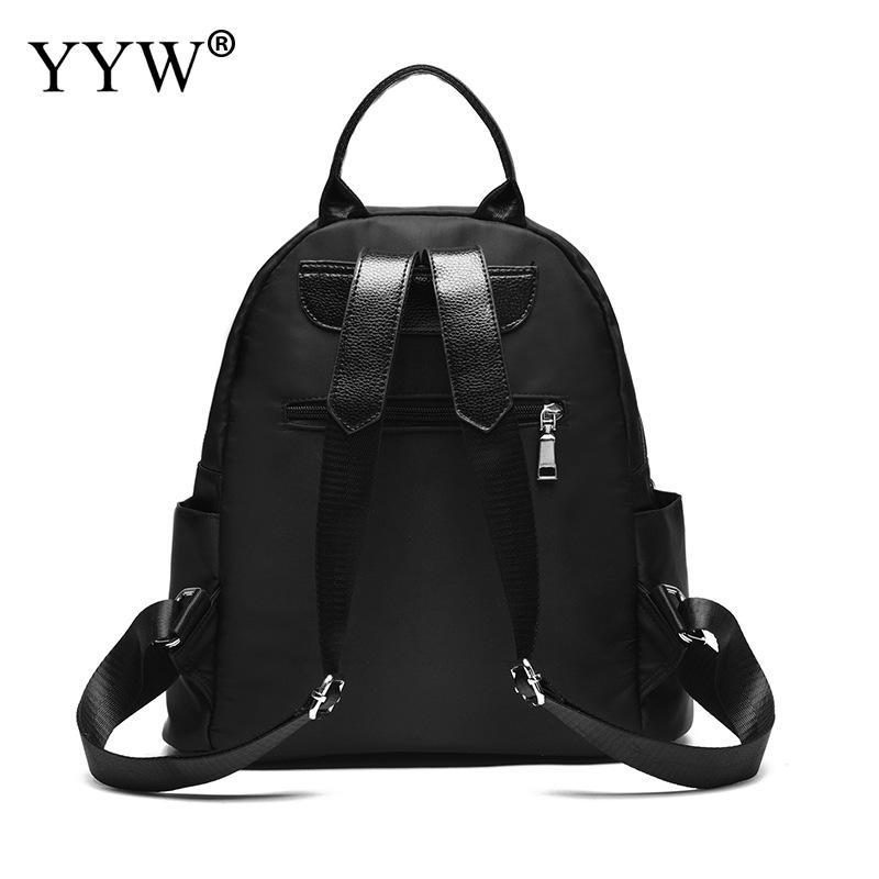 New Oxford Black Waterproof Travel Backpack Zipper School Bags Teenager Girl Soft Handle Backpacks Large Trendy Mochila Feminina