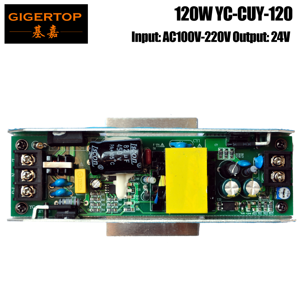 YC-CUY-120 120W Long Bar Led Wall Washer Light RGB 3IN1/RGBW 4IN1 Power Supply Board Aluminum Housing Insert Plate 24V Output