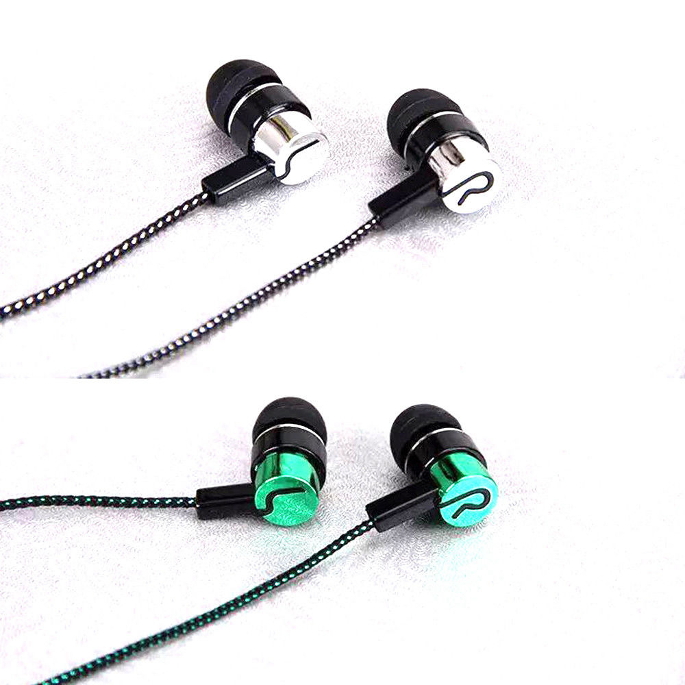 Powerful Super Bass Subwoofer In-Ear Earphone Handsfree HiFi Headphone Stereo Heavy Metal Music Headset Earbud Braided Earpiece цена
