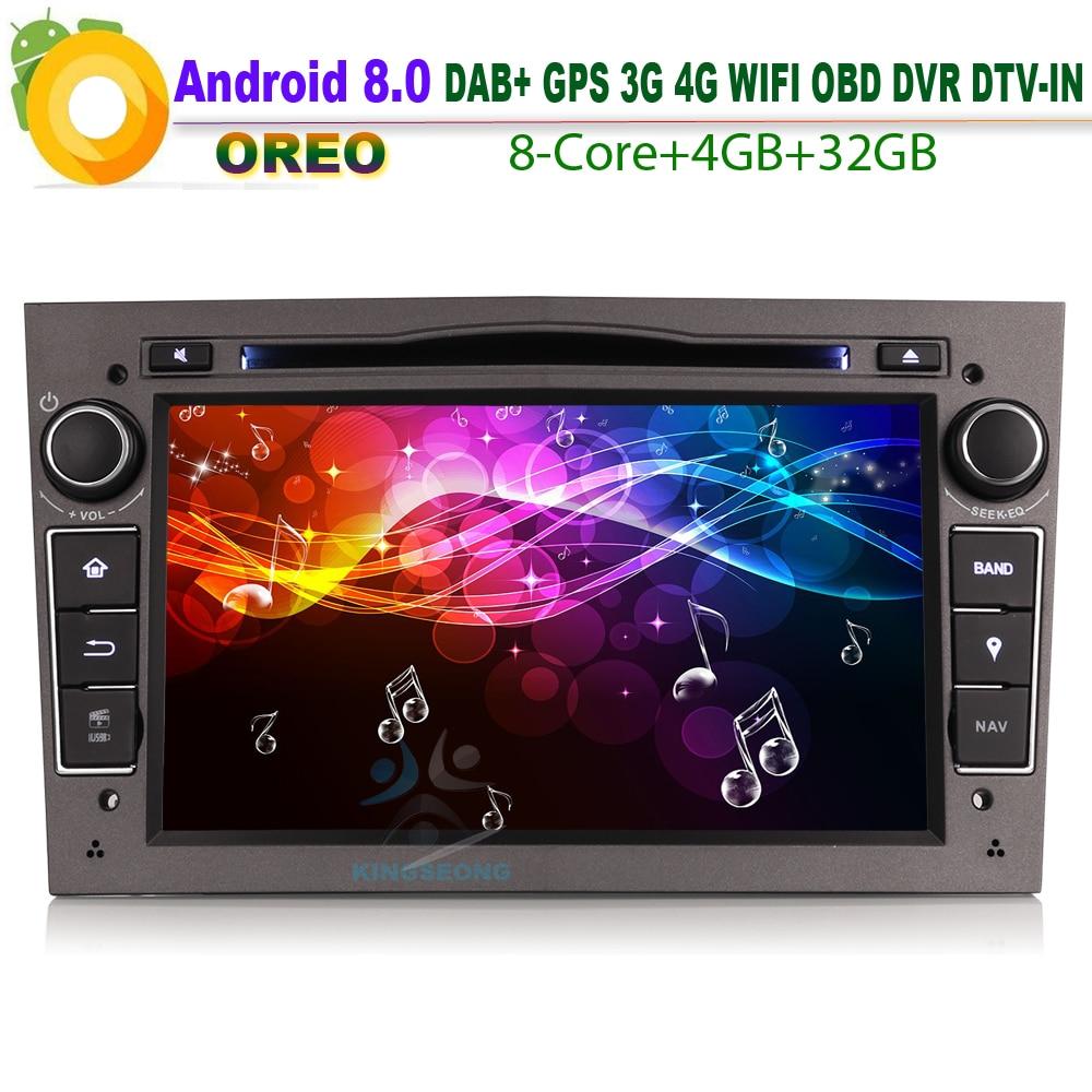 Android 8.0 Авторадио dab + стерео Wi Fi 4 г GPS DVD OBD CD RDS BT USB DTV автомобиля радио плеер для Opel Signum Vivaro СБ Navi