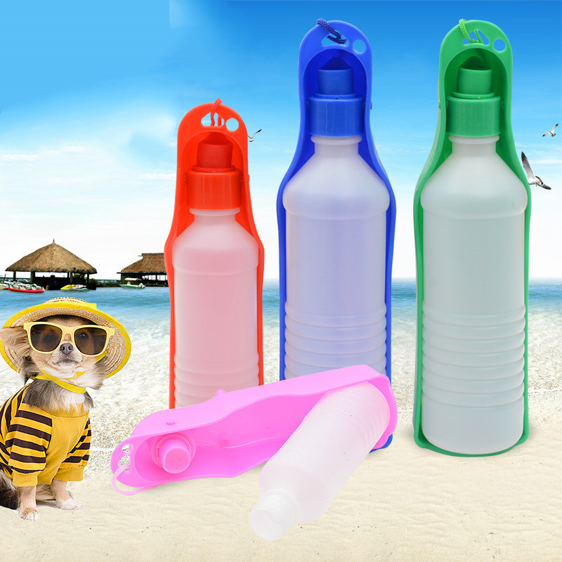 Aliexpress Com Buy Pet Portable Water Bottle 250ml Dog: 250ml Dog Water Bottle Feeder With Bowl Plastic Portable