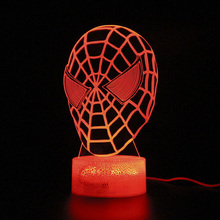 Avengers Endgame Light Touch 3d Table Lamp Spider man Led Night Party Decoration Marvel Legends