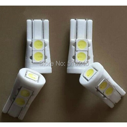 30X T10 W5W 194 168 High Power 5 LED 5050 SMD Ceramic Bulb Car Auto Side Light free shipping