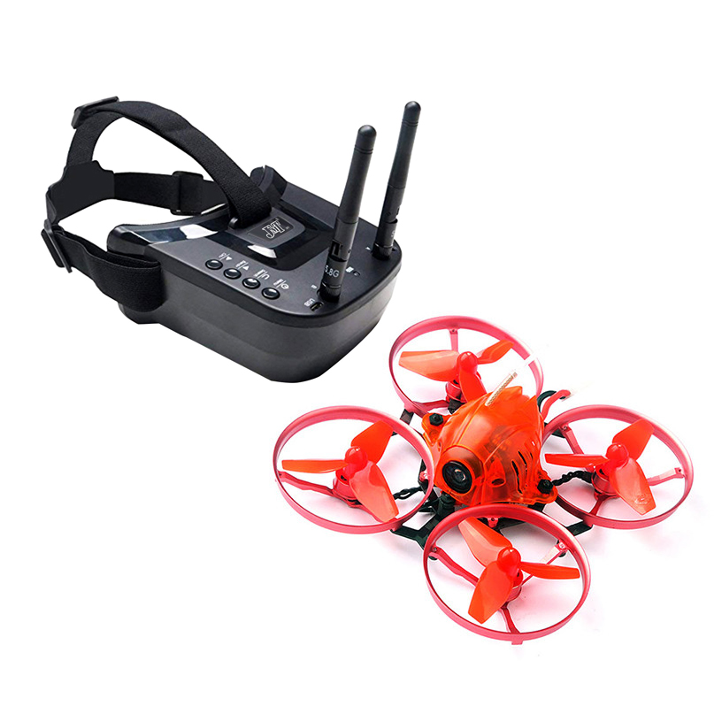 JMT Snapper7 Brushless Bwhoop Racer <font><b>Drone</b></font> BNF Tiny 75mm <font><b>FPV</b></font> 700TVL HD <font><b>Camera</b></font> VTX Double Antenna 5.8G Video Goggles for Frsky RX image