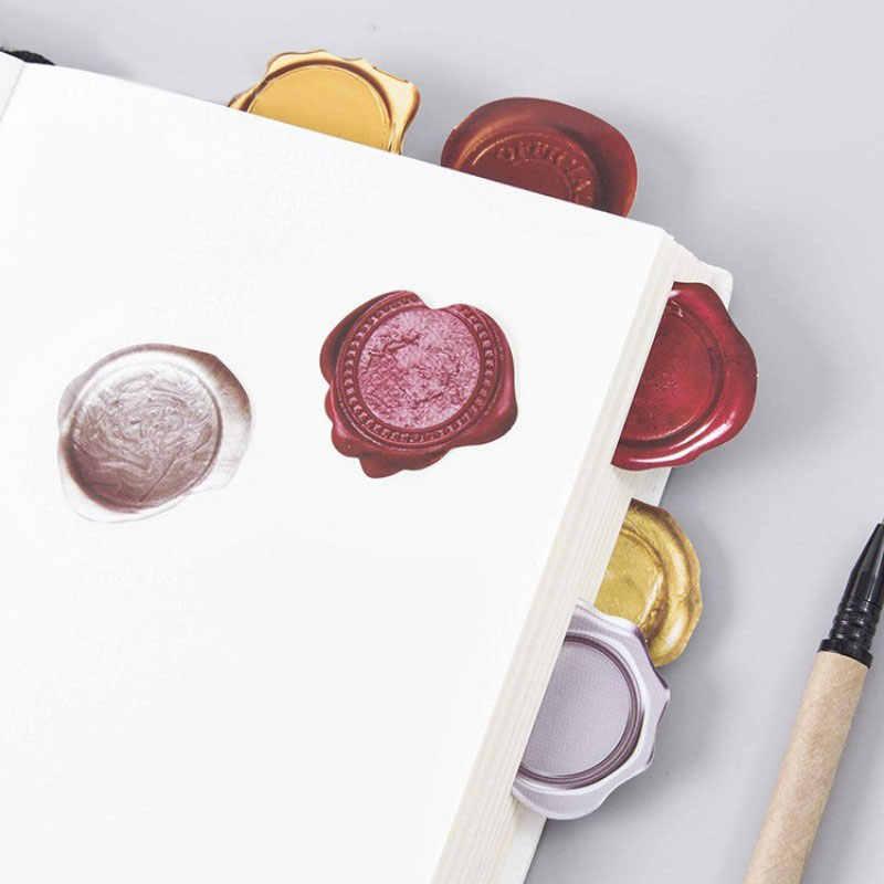 45 pcs/box Vintage Wax seal stamps paper sticker decoration DIY diary scrapbooking sticker children's favorite kawaii stationery