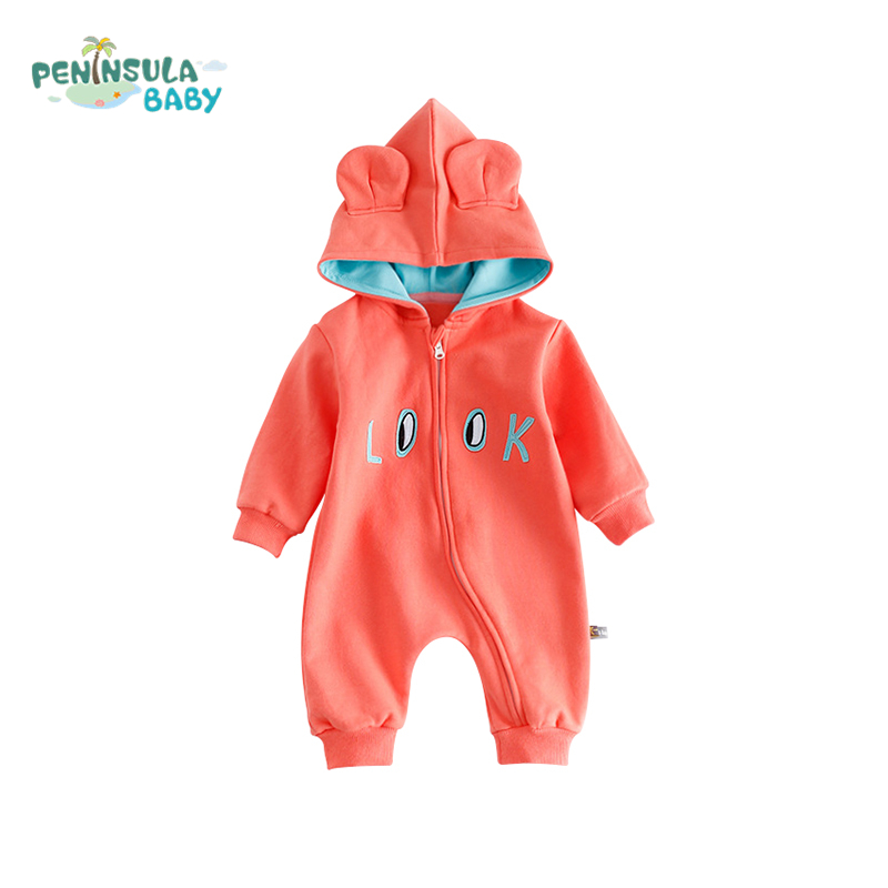 New Born Baby Rompers Infant Jumpsuit For Baby Kids Clothes Hooded Cotton Warm Clothing Boys Girls Long Sleeves Baby Product russia winter baby rompers new born baby pakas thick down baby ropa warm outerwear for baby girls boys cute clothes little kids