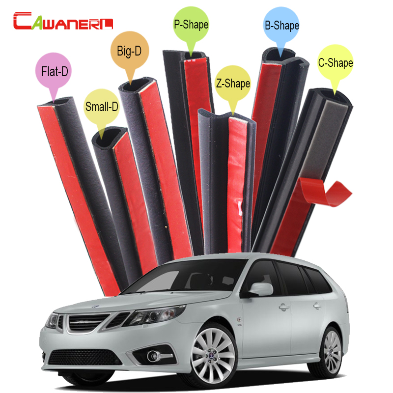 Cawanerl Car Accessories Sealing Strip Kit Sound Insulation Auto Rubber Seal Edge Trim Weatherstrip For Saab 9-3X 9-3 9-5 цена