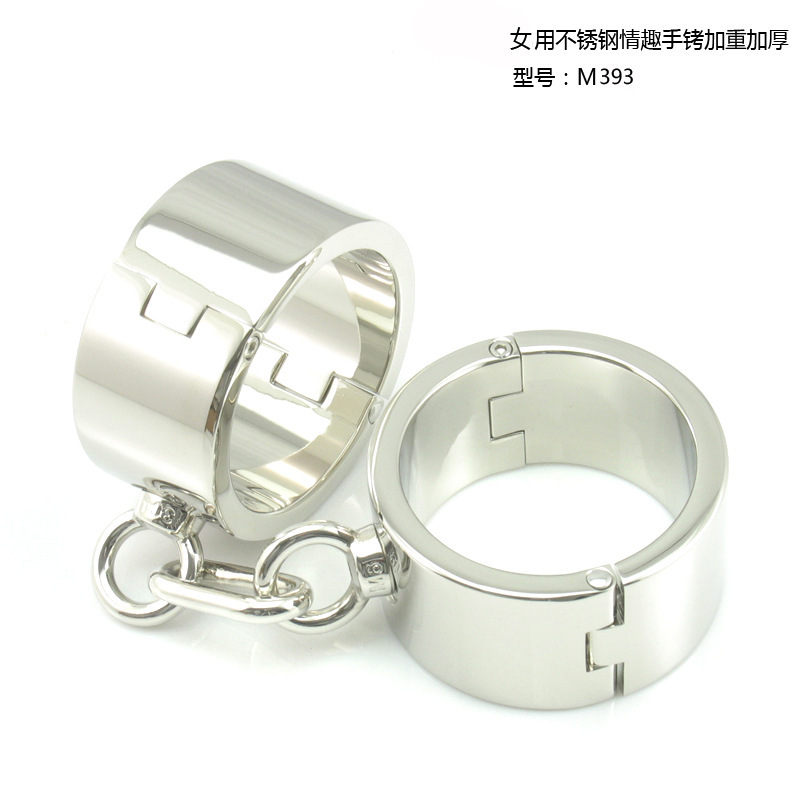 stainless steel metal hand cuffs bdsm fetish wear Bondage restraints handcuffs for sex erotic toys adult game sex toys for women stainless steel hand palm odor remover lasts forever