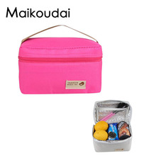 Maikoudai Practical Portable Thermal Insulation Bag Food Picnic Insulated Lunch Bag Tote Bags Brunch Storage Bag for Women Men S