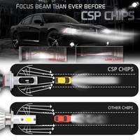 bulb 12v YIRAY 2PCS Hight Bright Car LED Headlight H4 H7 H11 H1 H3 H8 H9 9005 9006 CSP Chip Car LED Bulb Fog Light 72W 9200LM 6500k 12V (3)