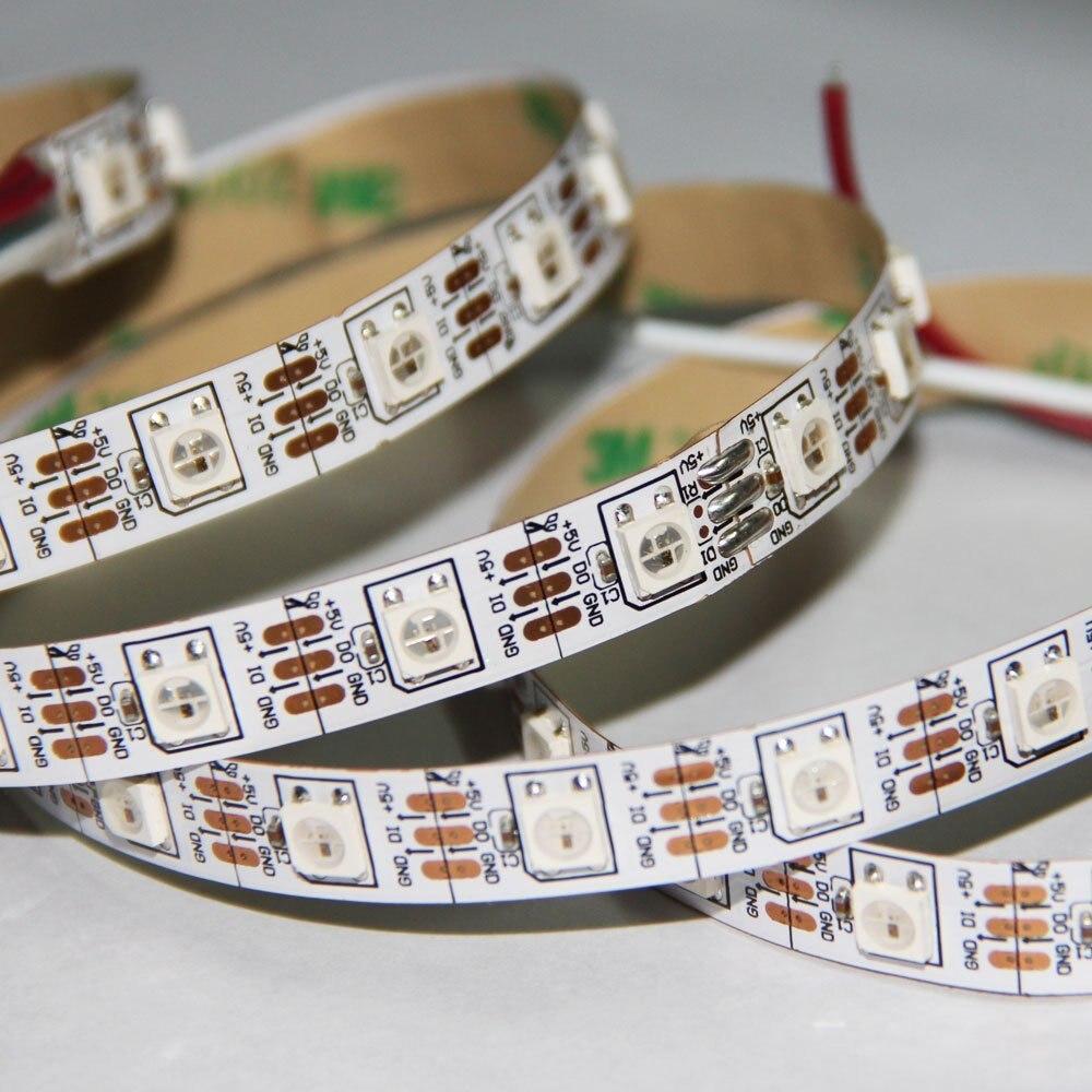 20 m/lote rgb LED tira WS2812B ic DC5V 60 Leds/M IP22 no impermeable SMD5050 Cambiar Color cinta flexible LED digital Tira de LED SMD 2835 60led ip22 12v murió