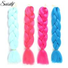 Saisity crochet hair extensions kanekalon jumbo braids ombre braiding hair synthetic hair extensions crochet braids box braids(China)