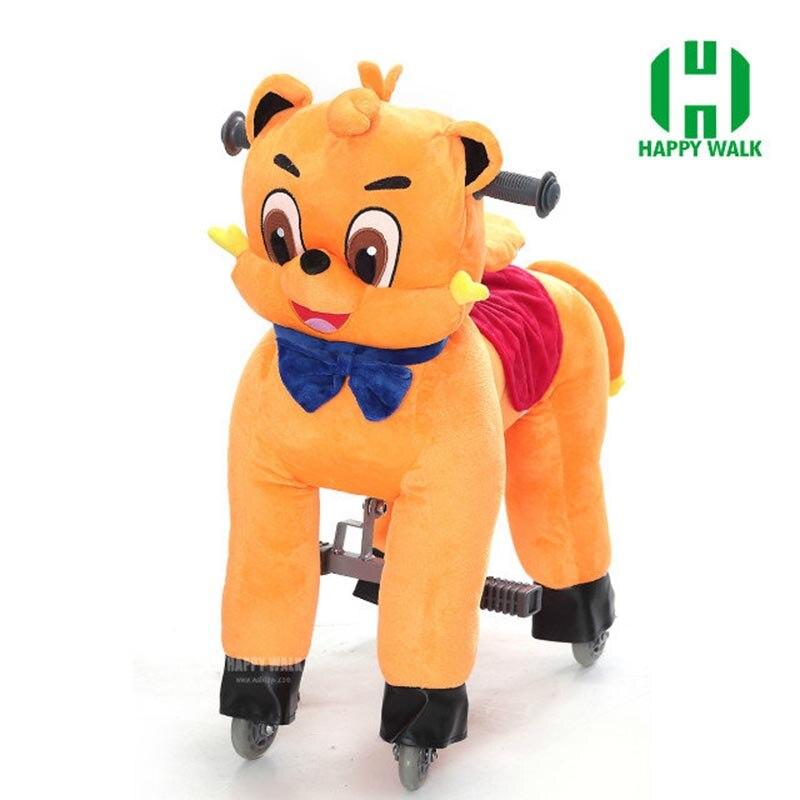 Nouveau design de marque équitation cheval sur roue marche jouets mécanique cheval Animal Ride-on petit poney poulain pour enfants enfants cadeaux