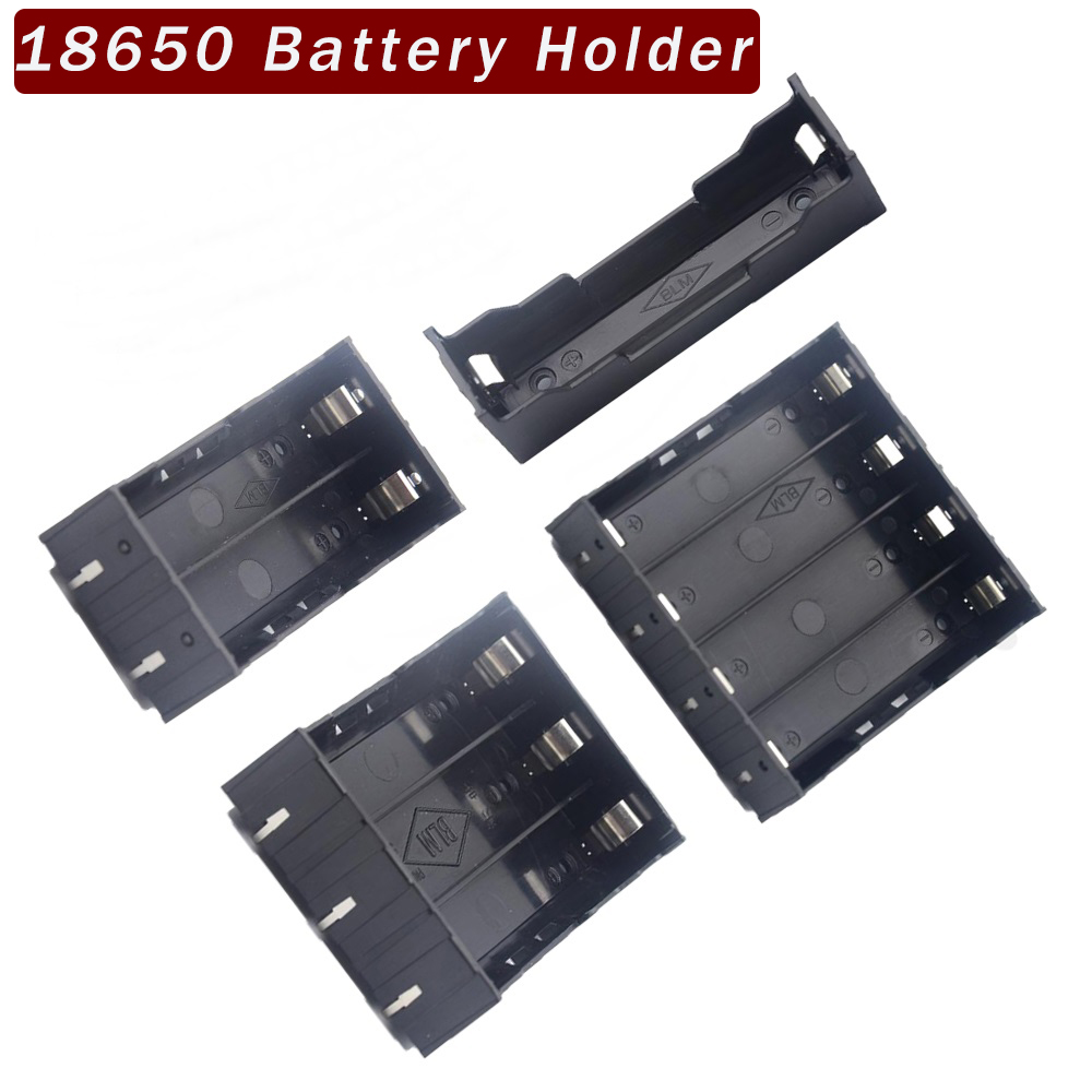 ABS 18650 Holder Hard Pin 1X 2X 3X 18650 Battery Holder Batteries 18650 Case Box Rechargeable Battery Power Bank Case