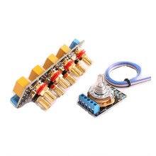 Placa amplificadora de señal de chasis, conmutador de selección de señal, fuente de audio, banda de relé de conmutación de señal con amplificadores RCA
