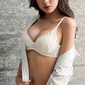 2017 Японский стиль сетки пряжи вышивка лук два грудью сексуальная коллекция женщины нижнее белье бюстгальтер черный и белый цвет