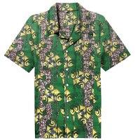 Nowy Dashiki Mężczyźni Ubierają Afrykańskie Ubrania Mody Kwiatowy Print Plaża Krótkim Rękawem Topy Man Koszula Styl Polska Projekt Świąteczny Kostium