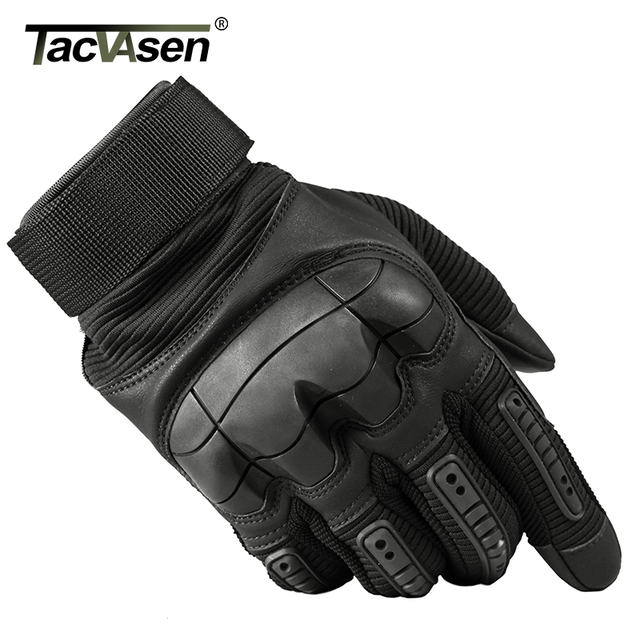 TACVASEN Military Tactical Gloves Men Army Combat Gloves Airsoft Protection Shell Full Finger Gloves Paintball Gear TD-YWHX-026