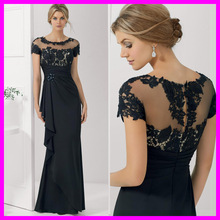 2015 Generous Mermaid Long Evening Dress Mother Of The Bride Dresses Lace Short Sleeve Pant Suits MH-38M