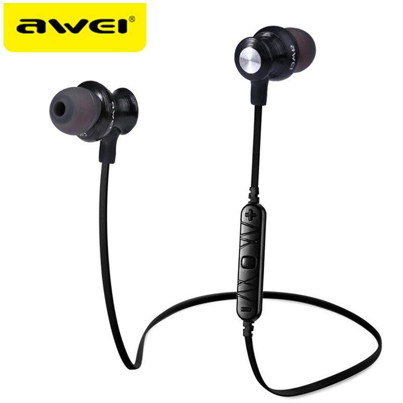 AWEI A980BL Bluetooth Wireless Earphone sport headphones for running Auriculares Audifonos Fone De Ouvido For iPhone Sony awei a920bls bluetooth earphone wireless headphone sport headset with magnet auriculares cordless headphones casque 10h music