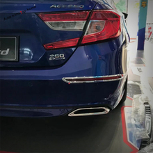 Yimaautotrims Rear Tail Fog Lights Lamp Decoration Cover Trim 2 Piece Fit For Honda Accord 10th 2018 2019 ABS Chromium Styling