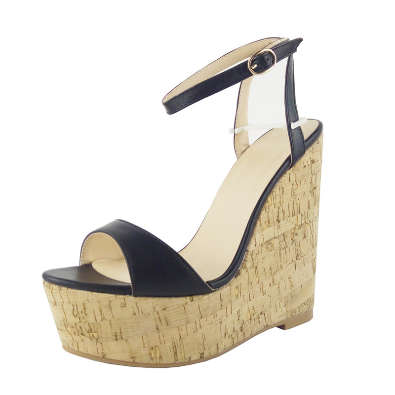 Women Sandals 2018 New Summer Wedges Sandals Women Fashion PU Leather Cross-Strap Office Casual Sandalia Plus Size 34-40 B005 new women sandals low heel wedges summer casual single shoes woman sandal fashion soft sandals free shipping