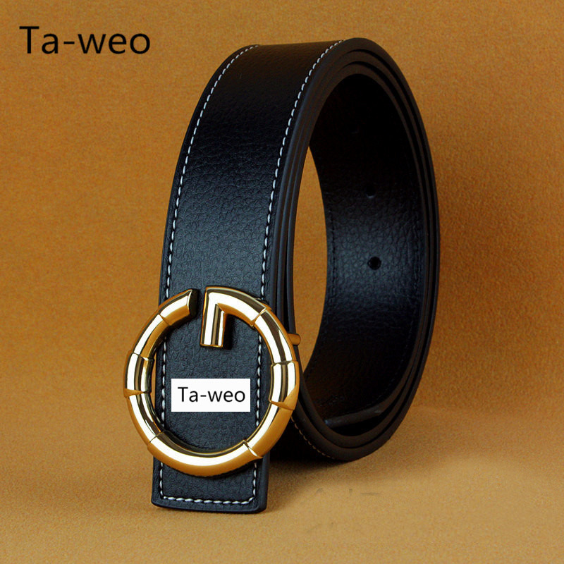 Mode Unisex G Smooth Buckle Bälten För Kvinnor Designer Bälten Män High Quality PU Belt Men Luxury