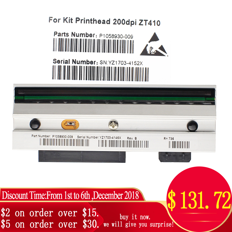ZT410 Printhead For ZT410 Thermal Barcode Printer 203dpi P1058930 009 Compatible
