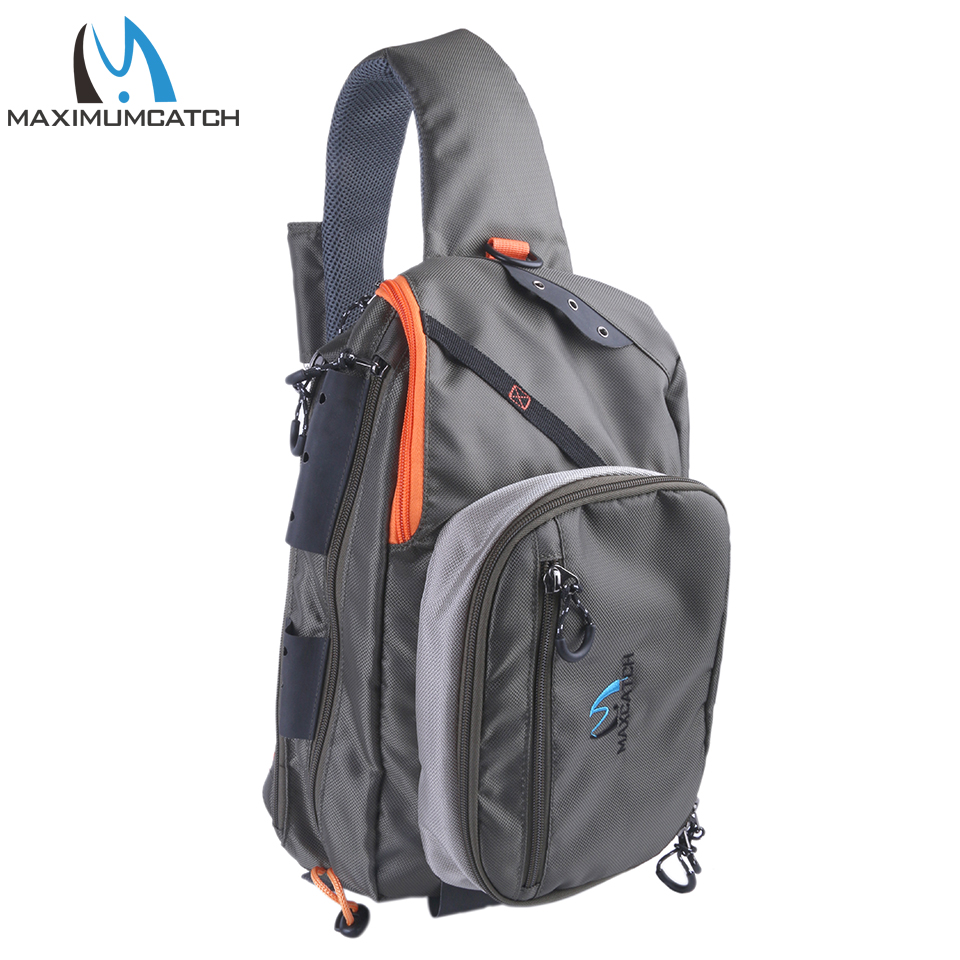 Maximumcatch Fishing Sling Back Pack Outdoorsport Fly Fishing Sling Bag With Fly Patch