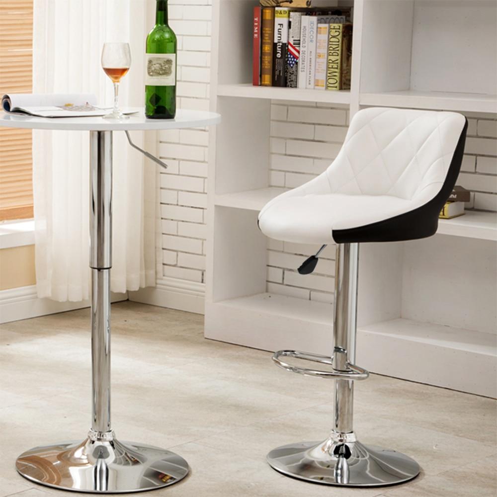 European 2pcs Swivel Bar Chairs Lift Adjustable Bar Stools Synthetic Leather Chaise De Bar Kitchen Bar Furniture HWC