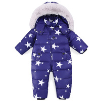 2018 Baby Jumpsuits Boys Girls Winter Overalls Baby Rompers Duck Down Jumpsuit Hooded Children Outerwear Kids Snowsuit Clothing