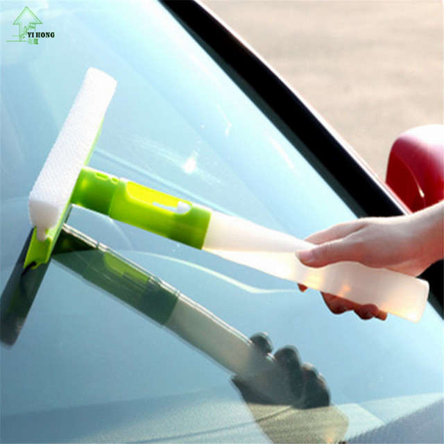 YI HONG Free Shipping Creative multipurpose integrated spray cleaning appliances, glass blowing scraping floor tile car brush
