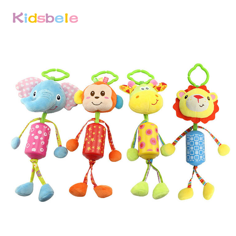 Soft Crib Toys : Cute animal hanging toy for babies crib soft rattle