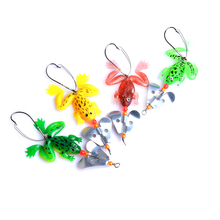 1pcs/lot 7cm/5.8g Pesca Fishing Lure Artificial Fishing Silicone Bait Frog Lure with Hook Soft Fishing Frog Lures fishing tackle 1pcs soft rubber frog fishing lure bass crankbait 3d eye simulation frog spinner spoon bait 8cm 6g fishing tackle accessories