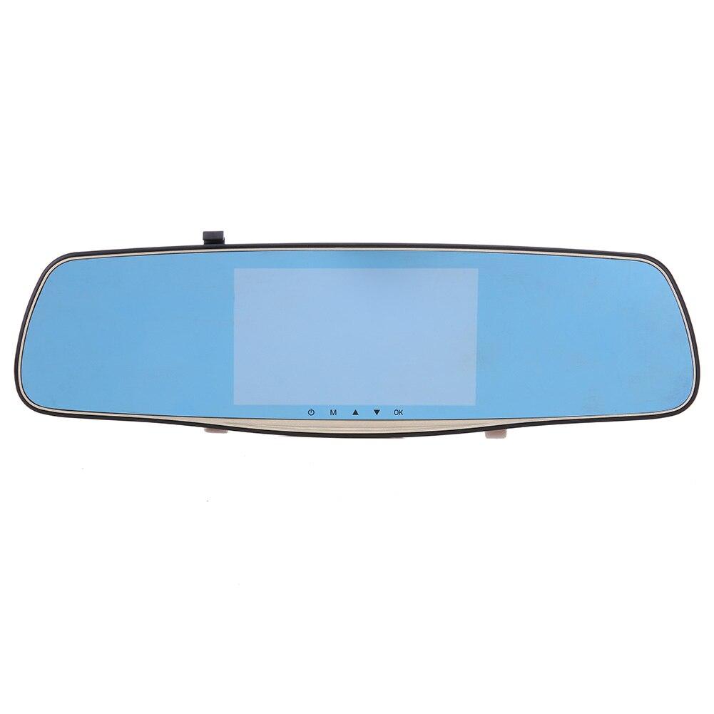Car DVR Driving-Recorder Car-Styling Rear-View-Mirror-5inch Dual-Lens High-Night-View
