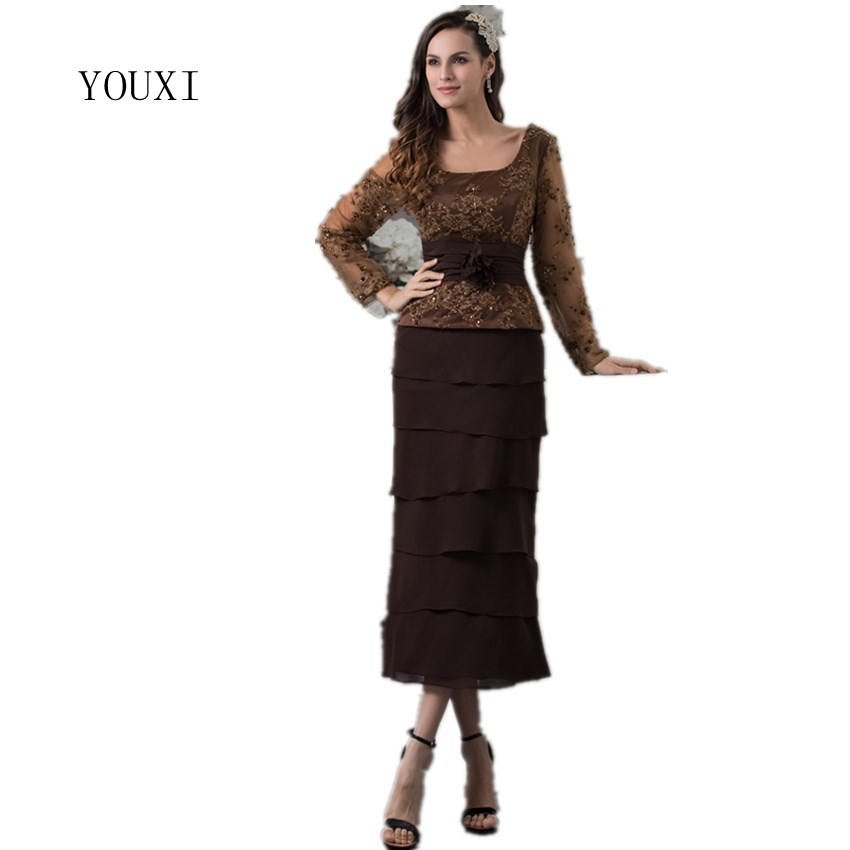 Brown Mother of the Groom Dresses