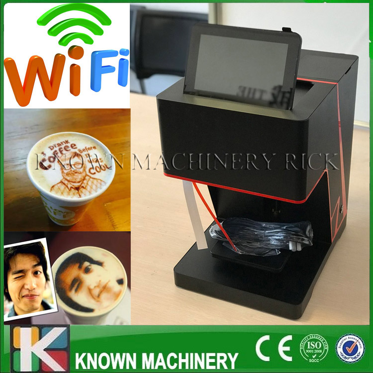 2018 the best selling latte art printing edible food coffee printer with wifi scan QR code on promotions