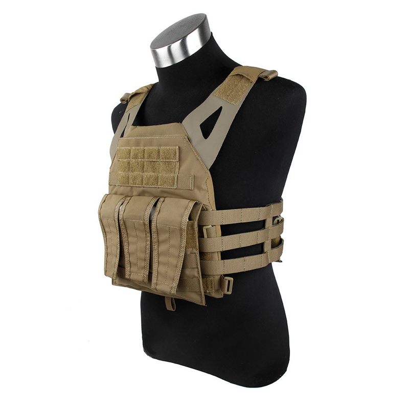 1000D Nylon JPC Tactical Vest  Military Combat Gear Outdoor Simplified Version With Two Plates For Paintball Hunting Camping