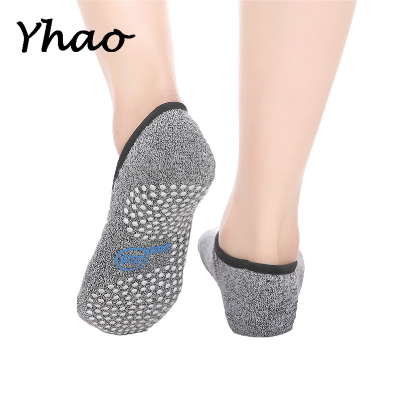 Seamless Toe Closure 100% Cotton Yoga Pilates backless Socks Women's Anti-Slip Ankle Grip Damping Bandage Yoga Ballet Socks
