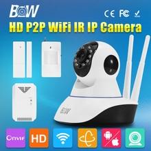 BW Surveillance CCTV IP Camera WiFi Infrared IR Security Camera 720P HD Wireless Network GSM Burglar Automatic Sensor Alarm