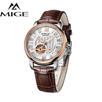 MIGE Men S Watch Top Brand Luxury Machinery Stainless Steel Hollow Quartz Watch Simple Time Point