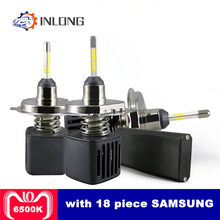 INLONG SAMSUNG Chip H4 LED Headlight Bulbs H1 H11 H7 9005 9006 D1S D2S 10000LM 6500K Car Led Auto Headlamp Headlights Fog Lights(China)